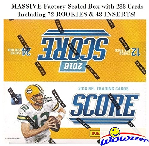 2018 Score NFL Football MASSIVE Factory Sealed Retail Box with 288 Cards Including (72) ROOKIES & (48) INSERTS! Look for RC's & Autographs of Baker Mayfield, Saquon Barkley, Sam Donald & More! WOWZZER