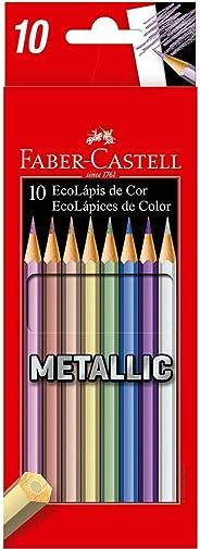 Lápis de Cor, Faber-Castell, EcoLápis Metallic, 120410G, 10 Cores