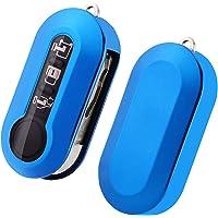 SKTU FIAT 500 /FIAT 500L toetsen autosleutel - TPU sleutelhoes cover (blauw)