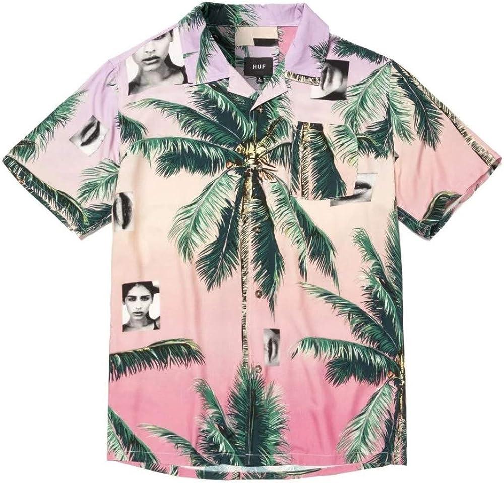 HUF Molly Resort Shirt Coral Pink