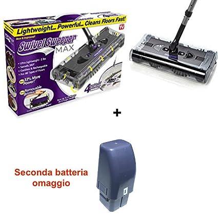 Scopa Ruotante Max.Dobo Scopa Rotante Elettrica Ricaricabile Aspirapolvere Max Rotante Doppia Batteria