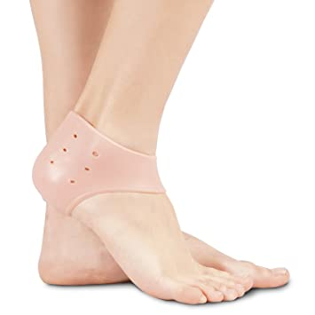 Soles Gel Heel Cups (One-Piece) - Reduces Foot and Heel Pain -