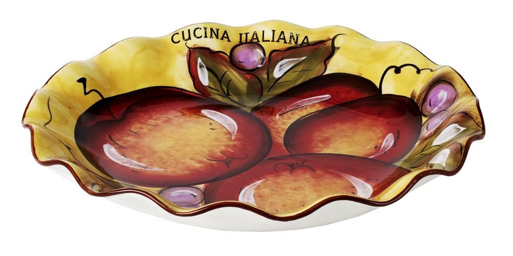 Cucina Italiana Large Pasta Serving Bowl,13 x 13 Inches 1317-562