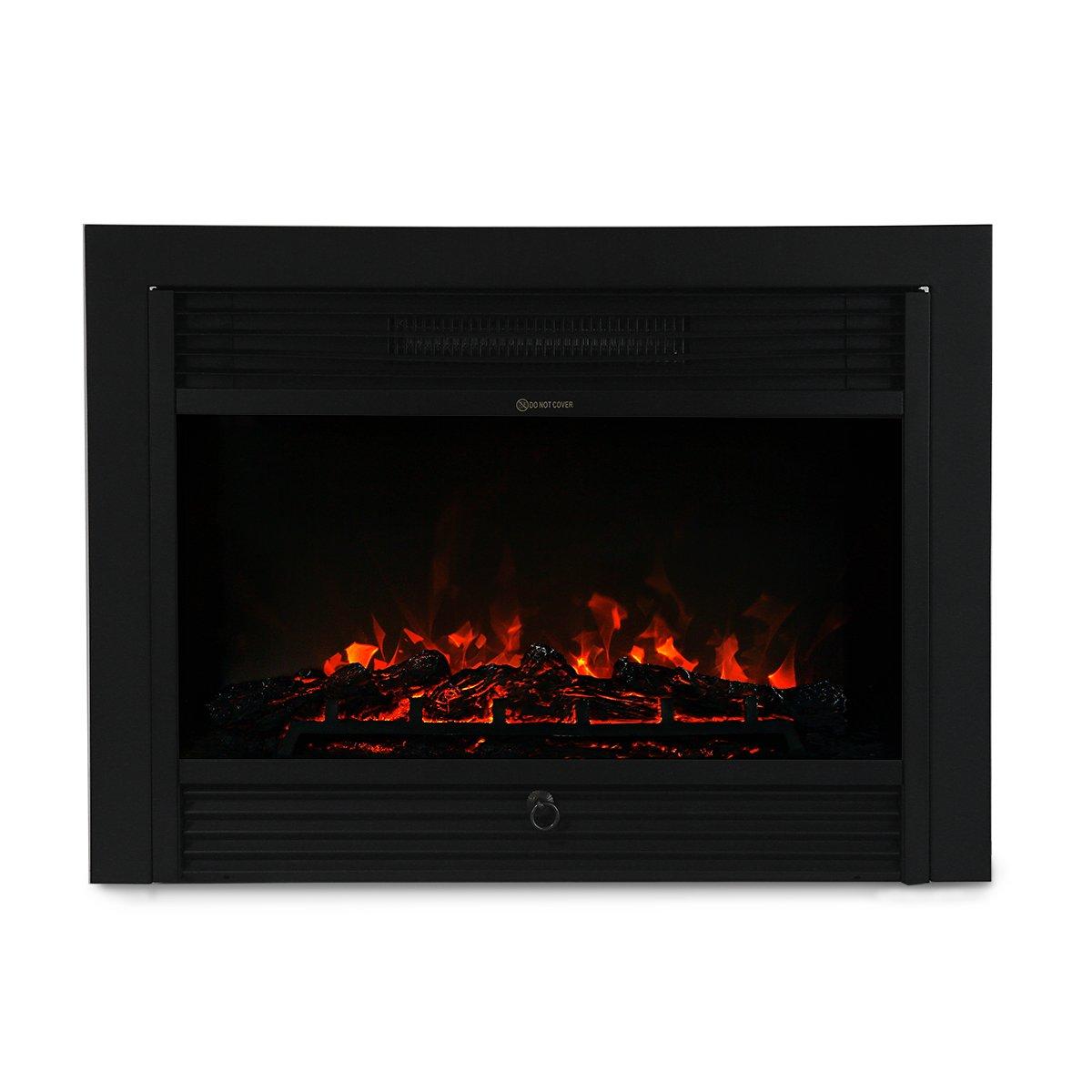 XtremepowerUS 28.5'' 1500W 5200BTU Embedded Electric Fireplace Insert Heater W/Remote Control