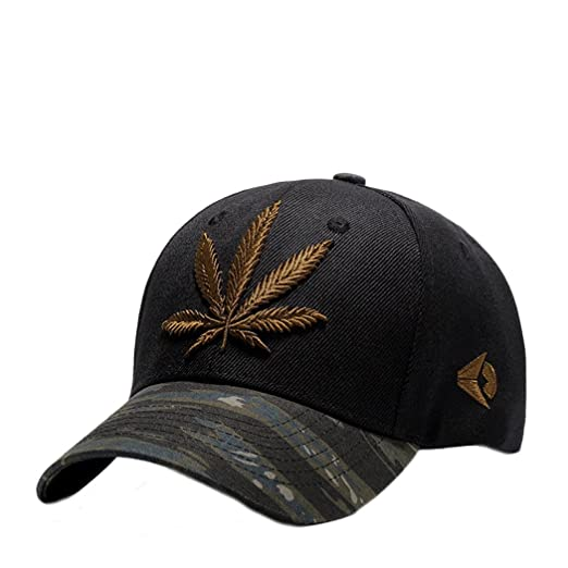 1cb730ca Zeafin Basic Embroidery Maple Leaf Baseball Cap Polo Style Classic Sports  Casual Sun Hat Brown