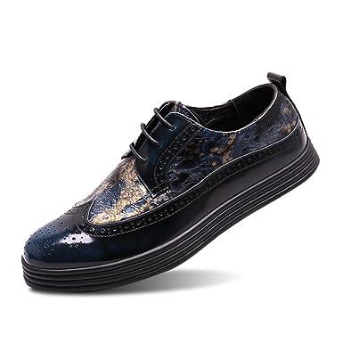 Sommer Bullock Herrenschuhe Geschnitzte Leder Männer Innenhöhe Schuhe 8 Cm  Business Casual Für Arbeit Büro  Amazon.de  Bekleidung 8ce04c6fa7