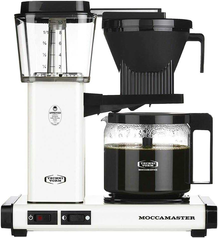 Technivorm Moccamaster 53959 KBG Coffee Brewer, 40 oz, Off-White