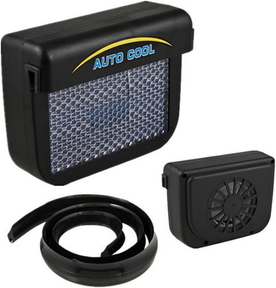 AAPP Shop Solar Sun Power Mini Aire Acondicionado para la ventanilla del Auto del Coche de la ventanilla del Aire Ventilador portátil del Aire Acondicionado del Ventilador de la ventanilla del Coche