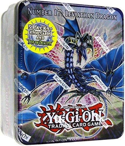 YuGiOh ZEXAL 2011 Wave 1 Holiday Tin Number 17 Leviath Dragon Includes 5 Packs + Pot of Duality, Stygian Street Patrol, Beast King Barbaros Dark Simorgh (Best Yugioh Zexal Cards)