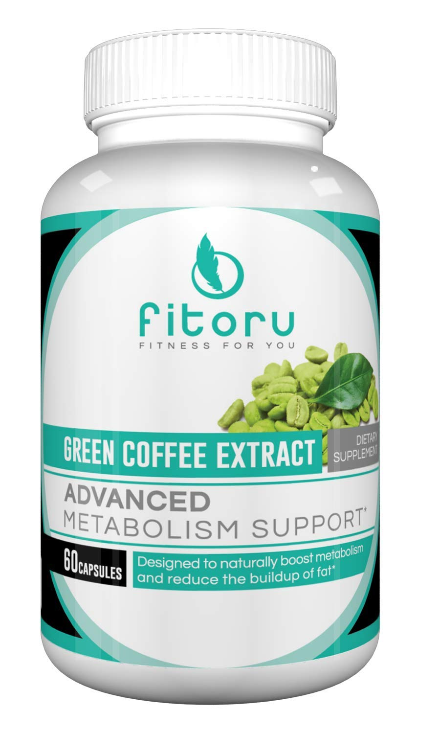 Fitoru Premium Green Coffee Bean Extract - 100% Natural and GMO Free with All-New Metabolism and Fat Loss Blend by Fitoru