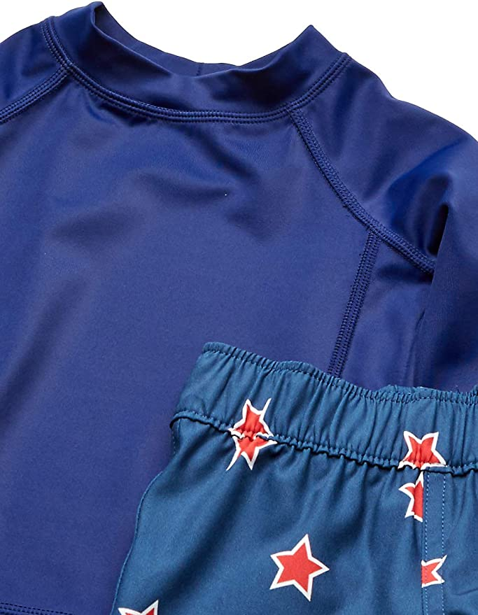 Banz Short Sleeve UV Rash S19rst8 Camicia Tartaruga Blu 7-8 Years Bimbo