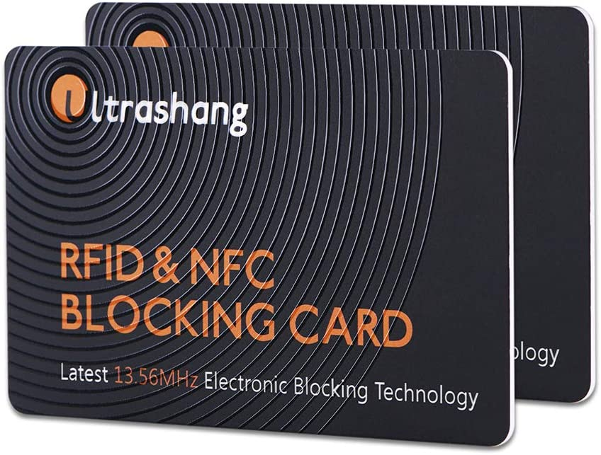 2Pcs RFID Blocking Card, Fuss-free Protection for Entire Wallet Shield, Credit Card Protector NFC Bank Debit Blocker, Identity Theft Prevention for ...