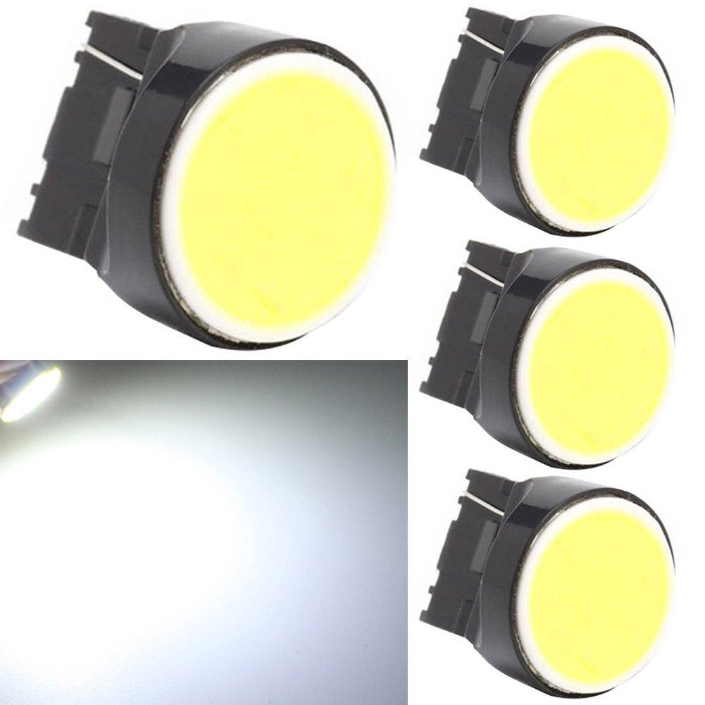 TABEN S25 1157 BAY15D 7528 1016 1034 COB Chips 12SMD LED Blue 8000K Car Stop Tail Turn Brake Light Bulb Lamp 12V 4-Pack