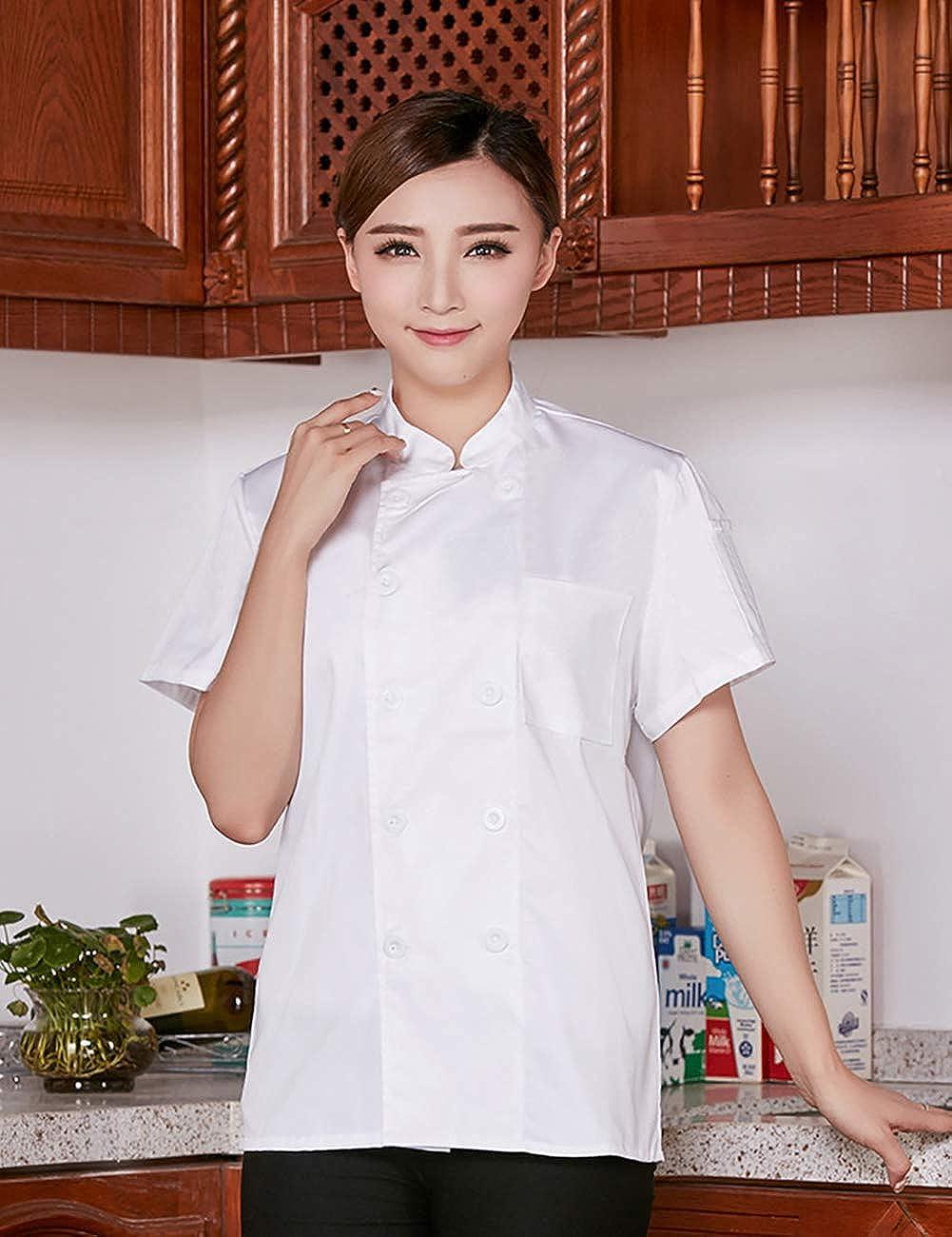 ShiyiUP Pantaloni da Chef Neri con Elastico in Vita