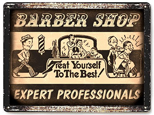 (Barber Shop Salon metal sign / vintage Style wall decor Hair Stylist plaque retro art 3)