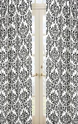 Damask Print Isabella Window Treatment Panels by Sweet Jojo Designs - Set of 2 from Sweet Jojo Designs