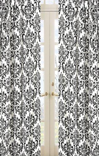 Sweet Jojo Designs Damask Print 2-Piece Isabella Window Treatment Panels by Sweet Jojo Designs