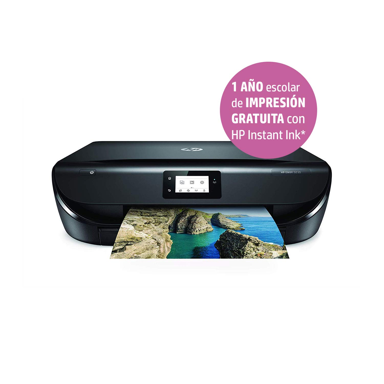 HP Envy 5030 – Impresora Multifunción Inalámbrica (Tinta, Wi-Fi, Copiar, Escanear, 1200 x 1200 PPP) Color Negro + HP N9K07AE 304XL Cartucho de Tinta ...