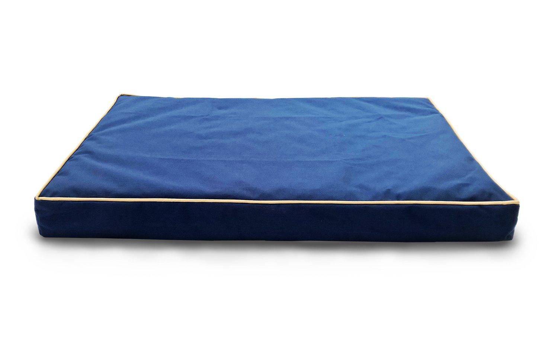 Amazon.com : Furhaven Pet Indoor/Outdoor Solid Cooling Gel Top Memory Foam  Mattress Pet Bed For Dogs And Cats, Jumbo Solid Blue : Pet Supplies