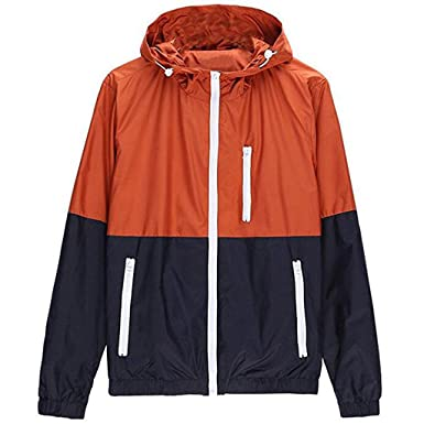 Amazon.com: Stunner Men's Spring Casual Light Jacket with Hood ...