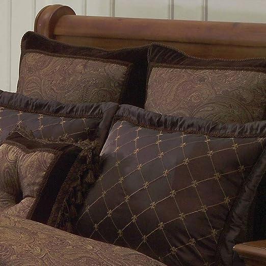Brown Riverbrook Home 77370 Buta Comforter Set King Hallmart Collectibles 10-Piece