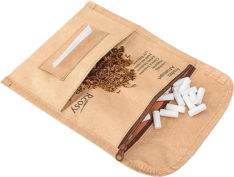 Lilily_store Estuche para Tabaco - Calidad Bolsa de Tabaco del único Papel de Tyvek con increíblemente Anti-Rasgado y característica Impermeable, Caja Unisex del Tabaco para el Uso Diario: Amazon.es: Equipaje