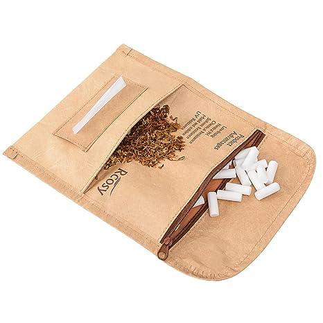 Lilily_store Estuche para Tabaco - Calidad Bolsa de Tabaco del único Papel de Tyvek con increíblemente