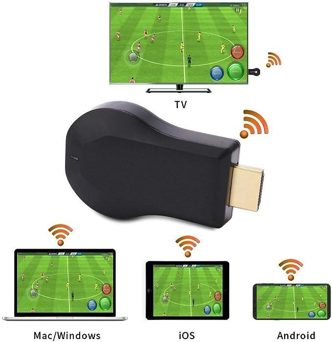 ATETION WiFi Display TV Dongle Receptor 1080P Fácil de Compartir Transmisión inalámbrica TV Stick por Dispositivo iOS / Android / Mac por HDTV - A ...