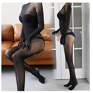 2dd4bfa11 Amazon.com  Tomtop201309 Women Men Seamless Full Bodyhose with Gloves Any  Cut Jumpsuits Velvet Bodystocking (Black(with Sheath))  Clothing