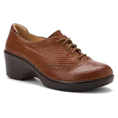 Alegria Women's Brown Burnish Snake Etta 2 Animal 35 B(M) EU | Oxfords