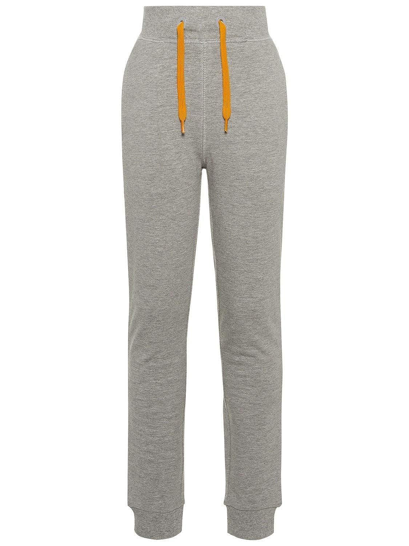 46b4dc0d4 Name It Long Pantalon DE Sport GARÇON VOLTANO - 140, Grey Melange
