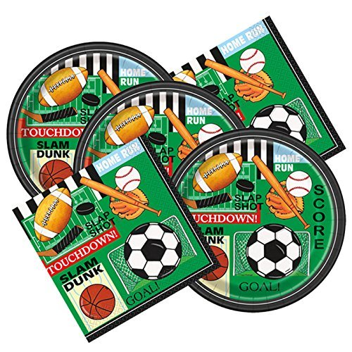 Classic Sports Themed Birthday Party Plates & Napkins Serves 16]()