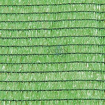MALLA de SOMBREO OCULTACION verde claro para terrazas y jardines (2 x 50 m): Amazon.es: Bricolaje y herramientas