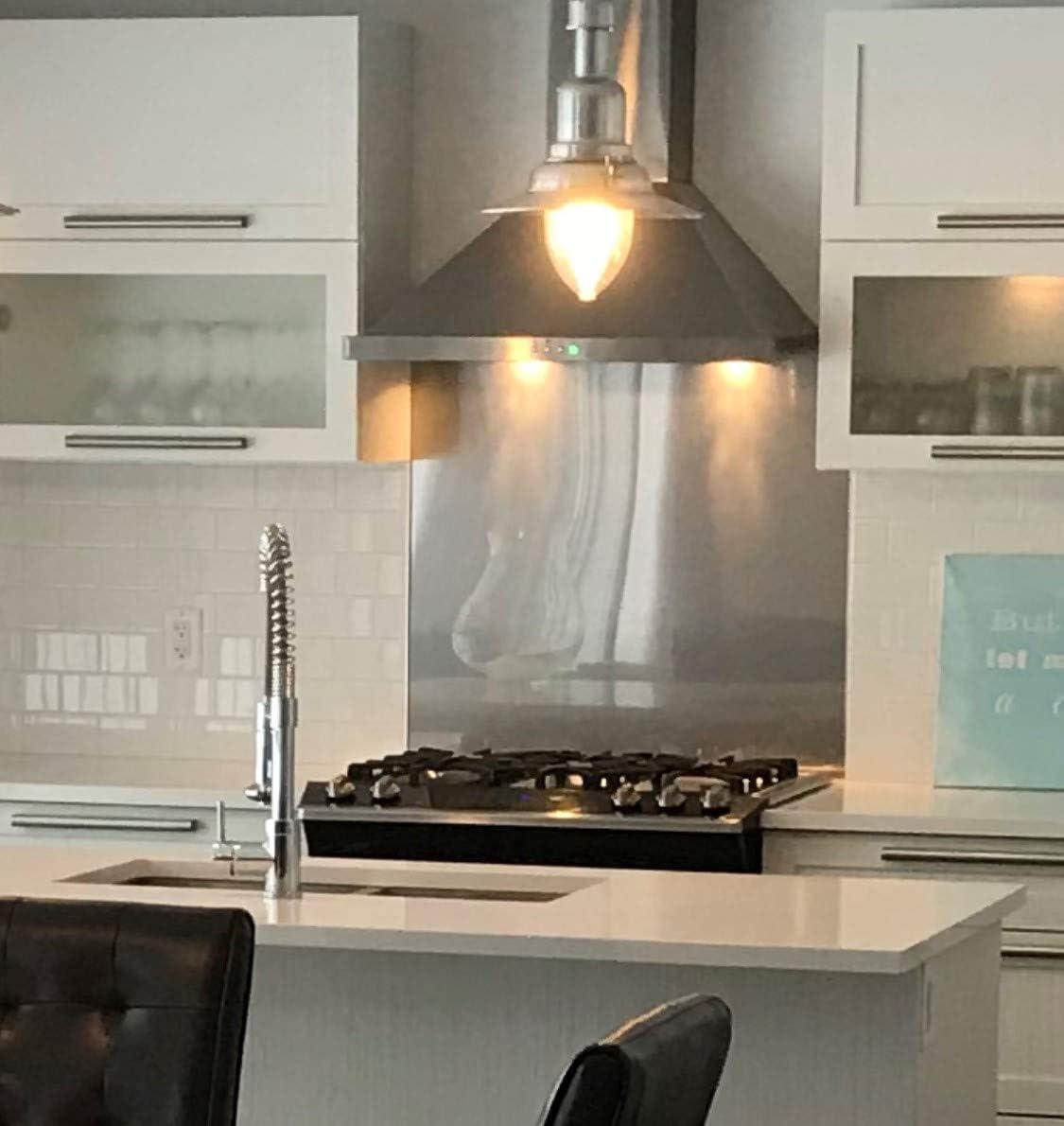 Sb Inox Stainless Steel Kitchen Backsplash 24 X 30 18ga 4 Ss304 Amazon Ca Home Kitchen