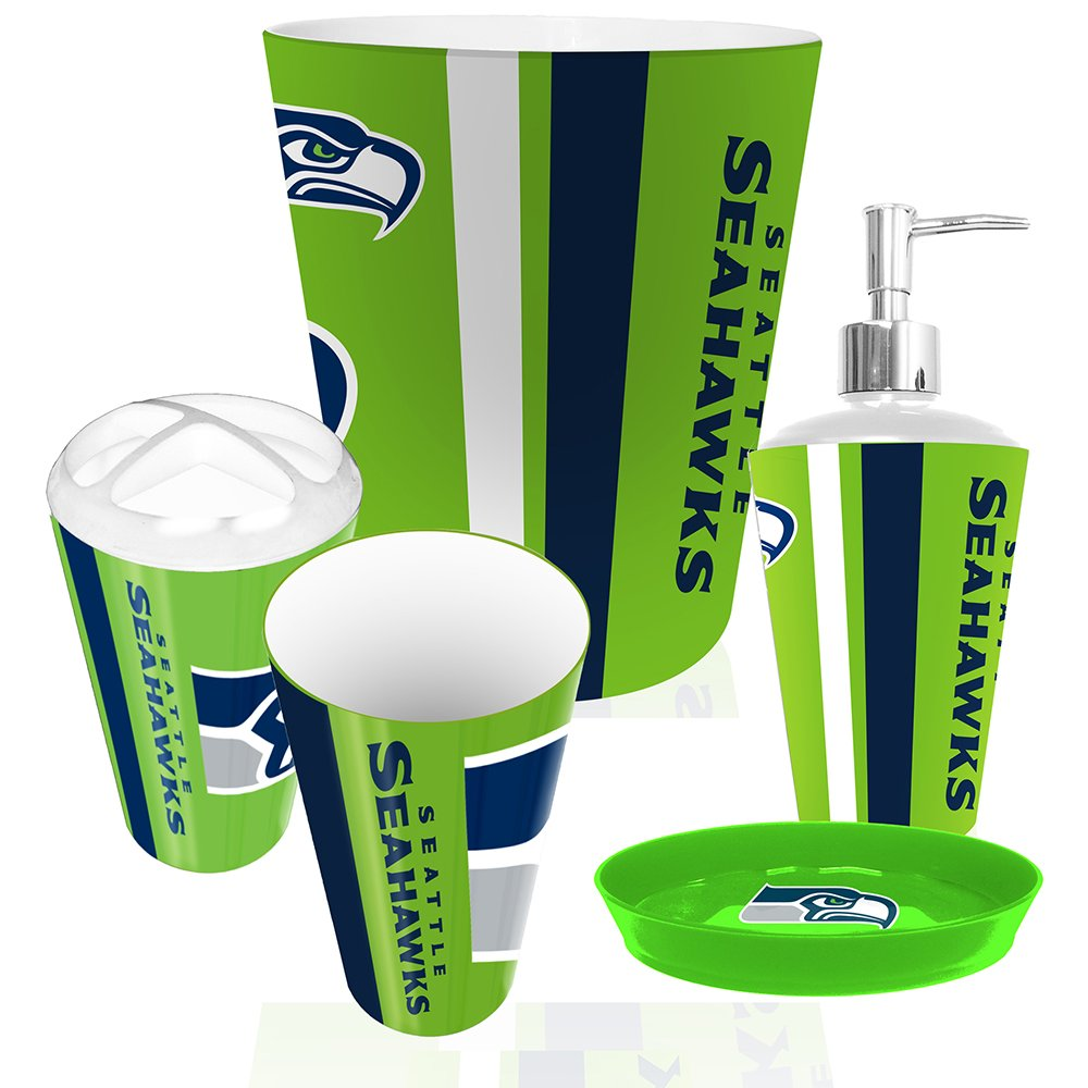 Nfl bathroom accessories for 49ers bathroom decor