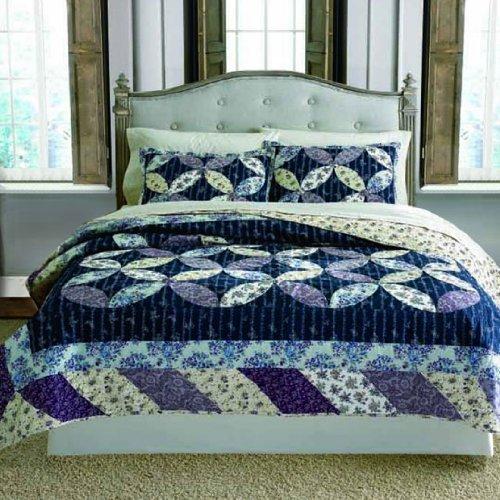 Price comparison product image Keeco Luxury 100% Cotton Veronica Patchwork Quilt Set, King