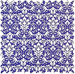 product image for SheetWorld Purple Damask Fabric - By The Yard