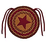 Cinnamon Star Braided Chair Cover- Set of 4