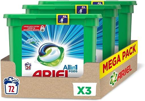 Ariel Allin1 PODS Frescor De Los Alpes Detergente En Cápsulas, 72 ...