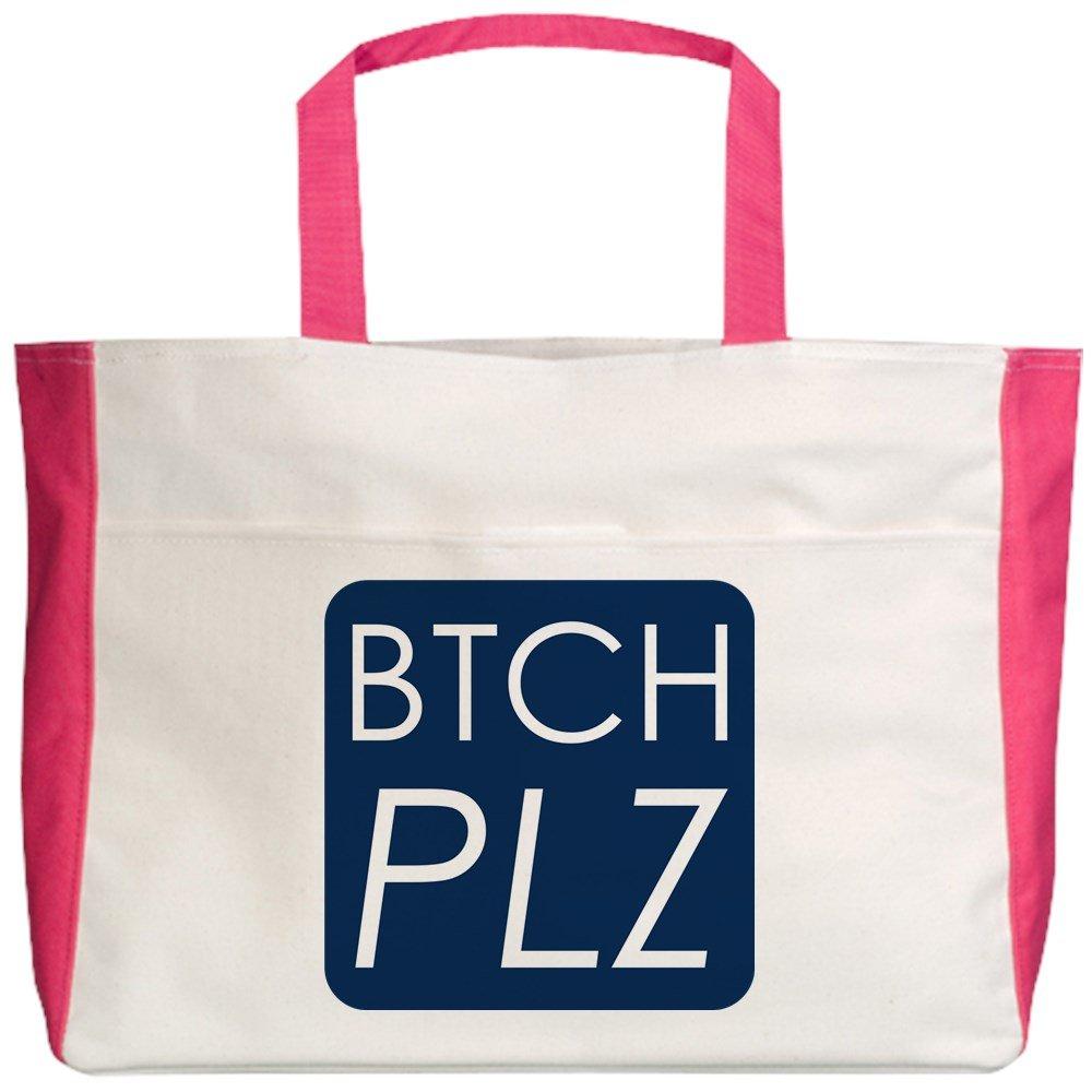 2-Sided Btch Plz Bitch Please Haute Couture Royal Lion Beach Tote