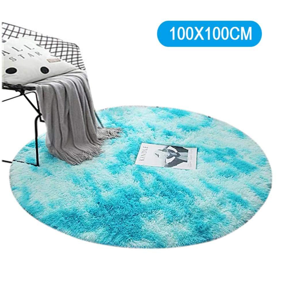 fashion NAKELUCY NEW Rug Round for Living Room 80cm Fluffy Shaggy Super Soft Area Carpet for Bedroom Sofa Floor Home Decor Nursery Rugs Kids Mat Black Beige Grey Blue