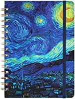 """Ruled Notebook/Journal - Lined Journal with Hardcover, 8.4"""" x 6"""", College Ruled Spiral Notebook / Journal, Back Pocket,..."""
