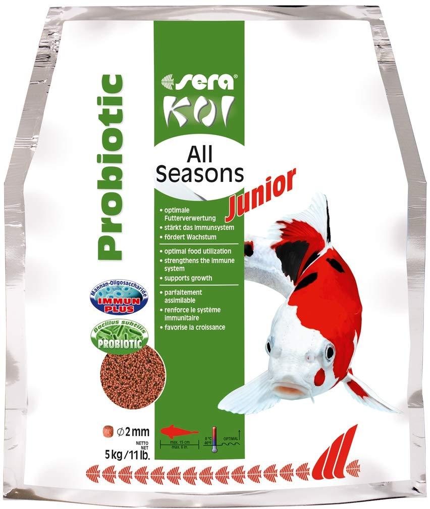 1 x 5 kg sera Koi Junior All Seasons Probiotic Fish Food 44455