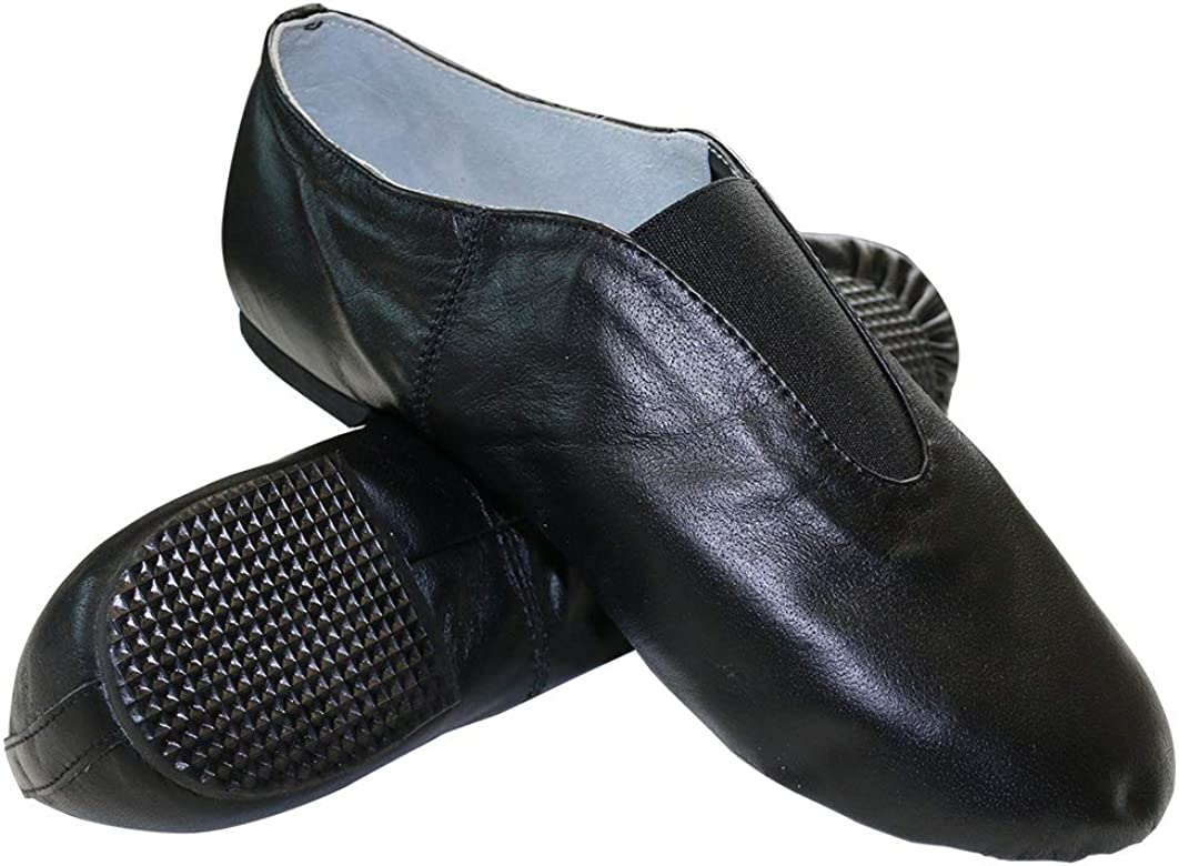 Danzcue Womens Black Leather Jazz Shoes