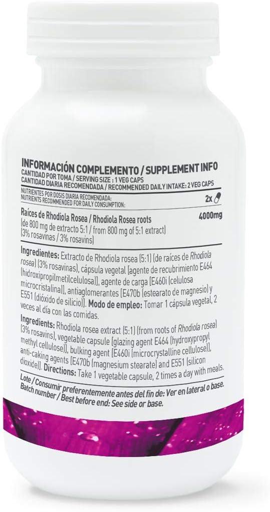 HSN Essentials EXTRACTO DE RHODIOLA ROSEA (5:1) 400mg - 120 Veg ...