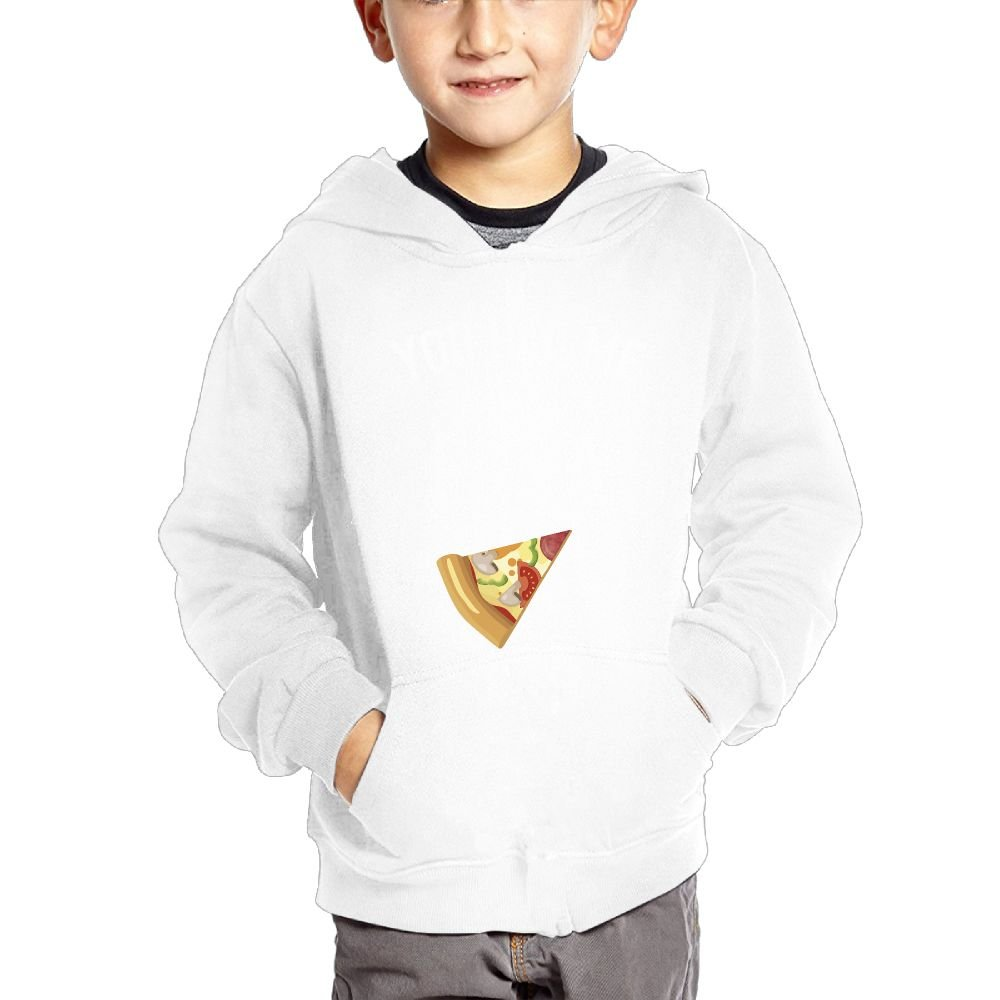 JIANGSHAN You Had Me at Pizza Breathable Hooded Pocket Sweater for Children Spring//Autumn//Winter Outfit Long-Sleeved Hoodie