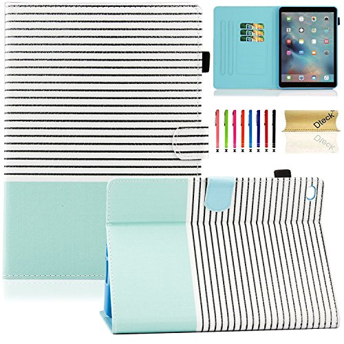 Dteck iPad Mini Case for iPad Mini 4 (Model A1538/A1550) - [Cute Cartoon] Flip Folio Stand Smart Auto Wake/Sleep Case with Card Slots for iPad Mini 4 7.9 iOS Tablet, Simple Stripe