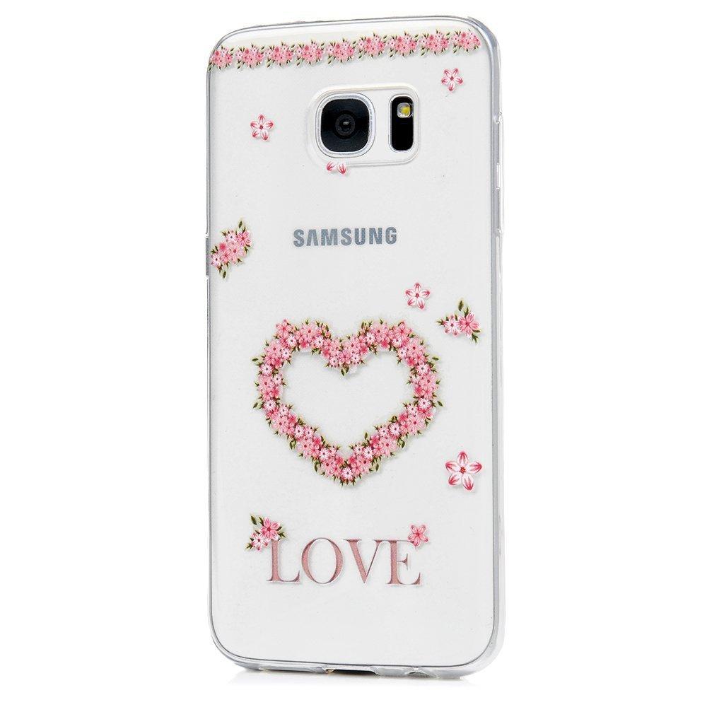 Funda para Samsung Galaxy S7 Edge, Samsung Galaxy S7 Edge Funda Carcasas Flexible TPU Silicona Transparente Ultra Fina Ultra Ligero Gel Shock-Absorción, Anti-Arañazos y Anti-Choque Bumper Protectora Funda para Samsung Galaxy S7 Edge - Campánula ToDo