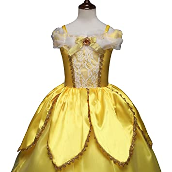 QSEFT  Disfraz de Carnaval navideño de Princesa Sofía Nieve Blanco Rapunzel  Vestido niña Halloween Role 8c586d595de