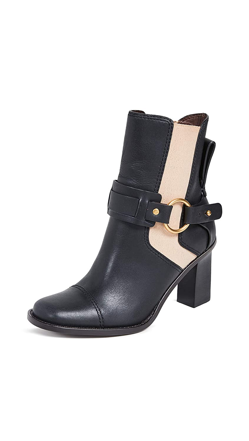 Black Nude See by Chloe Women's Alexis Harness Boots